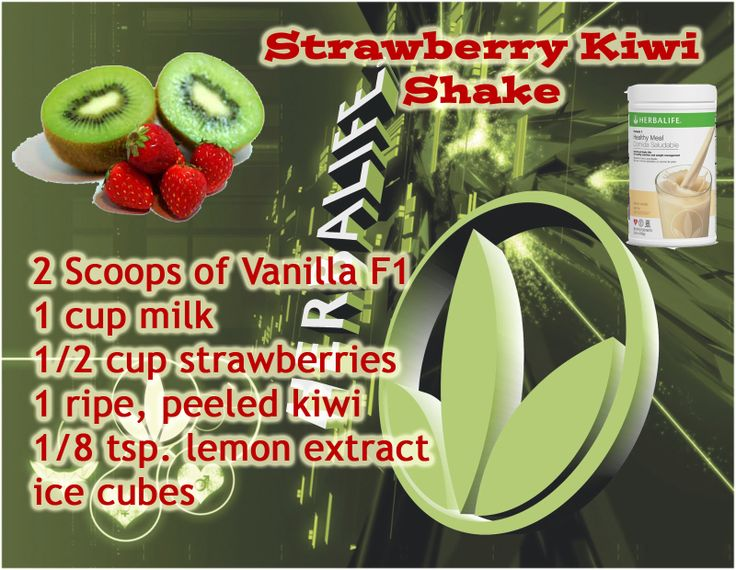 Herbalife Strawberry Kiwi Shake with French Vanilla F1 Order your Herbalife products today! https://www.goherbalife.com/valeriewillis