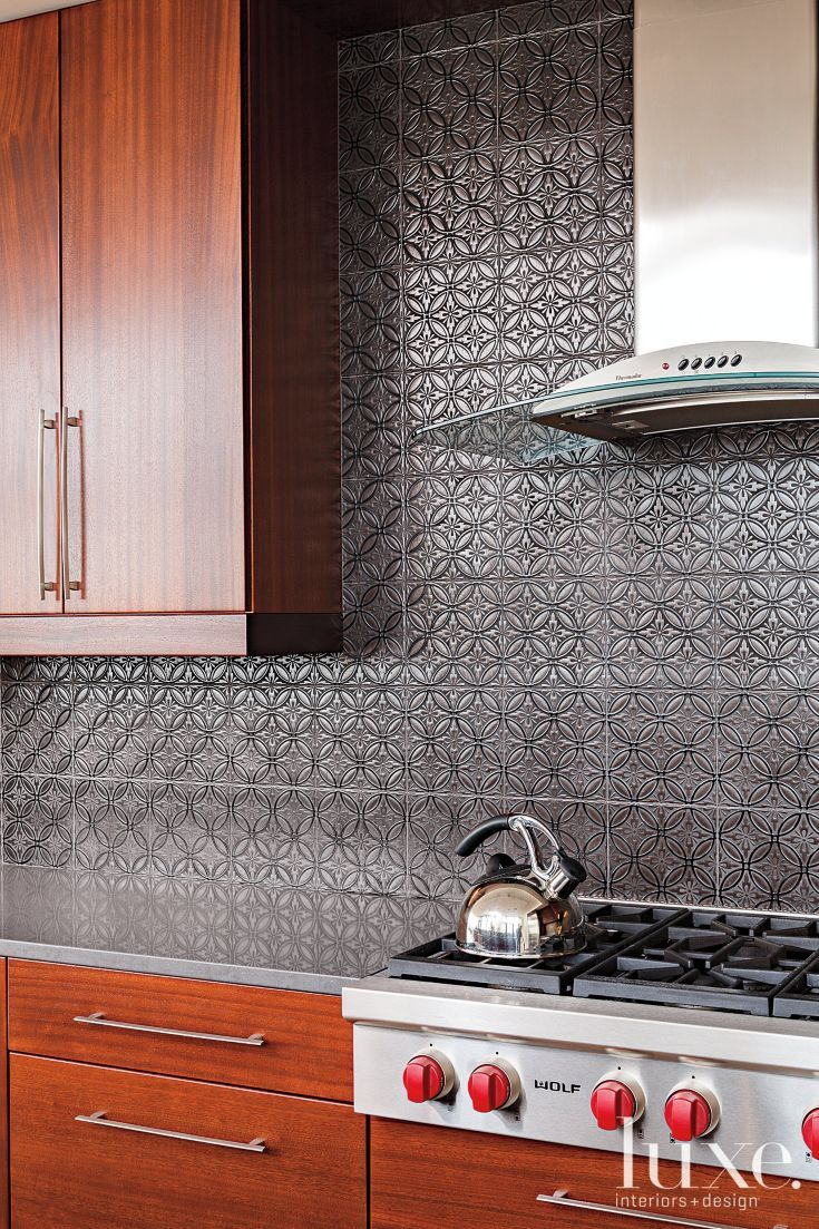 Custom kitchens by john wilkins - Modern Kitchen Detail With Gray Backsplash