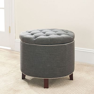 Cute storage ottoman from Kohl's! $229 Safavieh Audrey Tufted Storage Ottoman