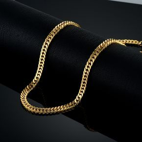 Vintage Long Gold Chain For Men Chain Necklace Brand New Trendy 18k Real Gold Plated Thick Bohemian Jewelry Colar Wholesale