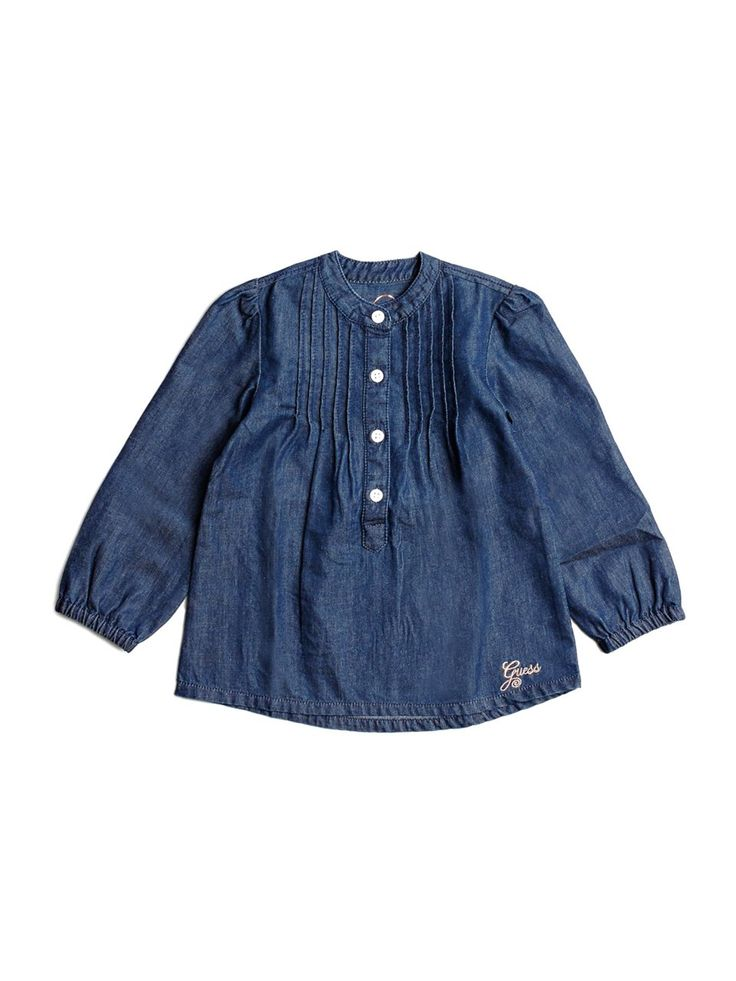 Long-Sleeve Chambray Top (2-6x)