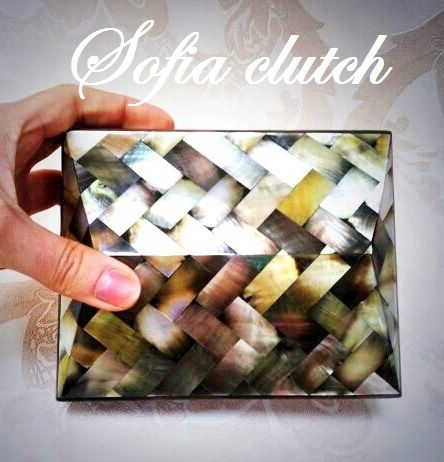Make a statement with our Sofia Clutch in mother of pearl....shop online here www.alewalsh.com