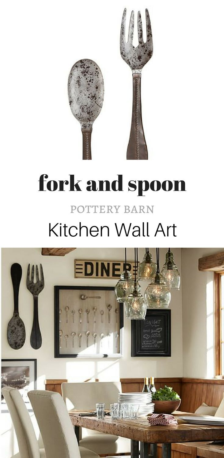 99 At Pottery Barn Metal Spoon Fork Wall Art If You Have A Large Wall In Your Kitchen Or Dining Room Dining Room Art Kitchen Wall Farmhouse Dining Room