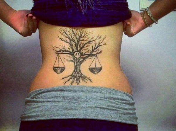 Libra Zodiac Tattoo http://www.pairodicetattoos.com/libra-zodiac-tattoo/
