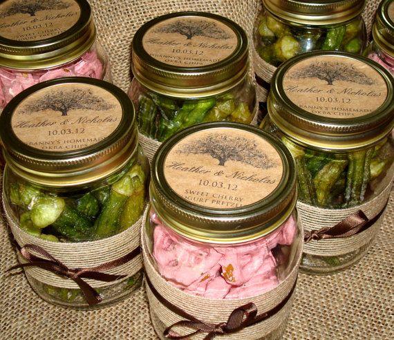 Custom Mason Jar Labels Rustic Kraft Paper Tree by theinklab, $7.00  Use blueberry Jam: Shane & Amy Sept. 22, 2013