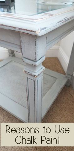 Reasons to Use Chalk Paint: I've used lots of different types of paint to paint furniture, from latex to oil to chalk paint, but there are definitely a few reasons why using chalk paint is a big plus for people who want…