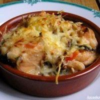 Cassolettes gratinées de Saint Jacques, crevettes et saumon