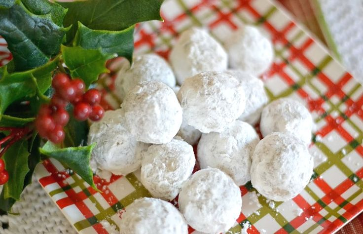 One of my most popular Christmas cookie recipes - Pecan Meltaway Balls.