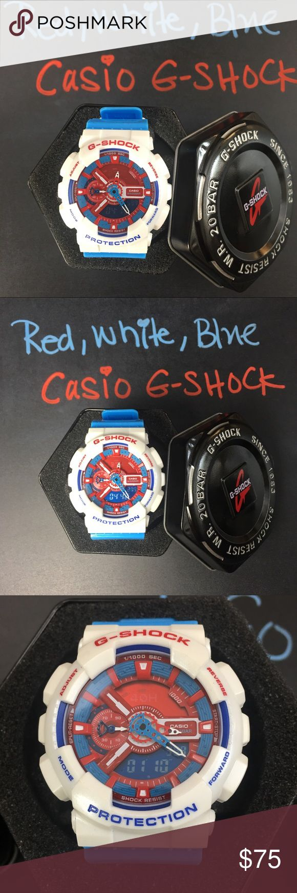 Casio G-Shock Red White Blue Series G-110 Limited Casio Men's G-Shock Blue and Red Series G-110 Limited Edition.  This is the lowest price, G-Shock Accessories Watches