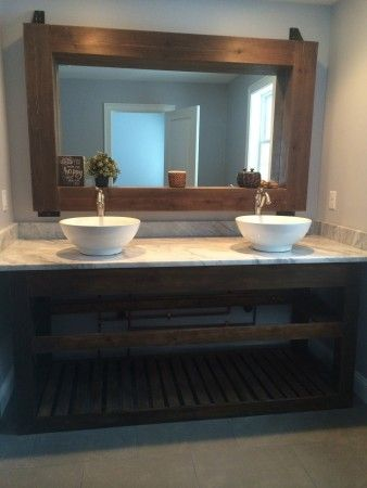 Photo Album Website Slatted double vanity almost finished Do It Yourself Home Projects from Ana White