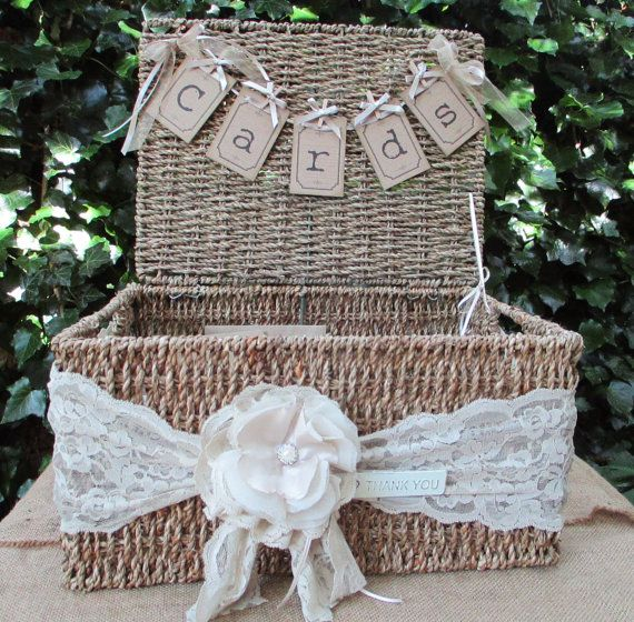 Hamper Basket Wedding Card Holder Post Box - Gift Cards -Seagrass Hamper