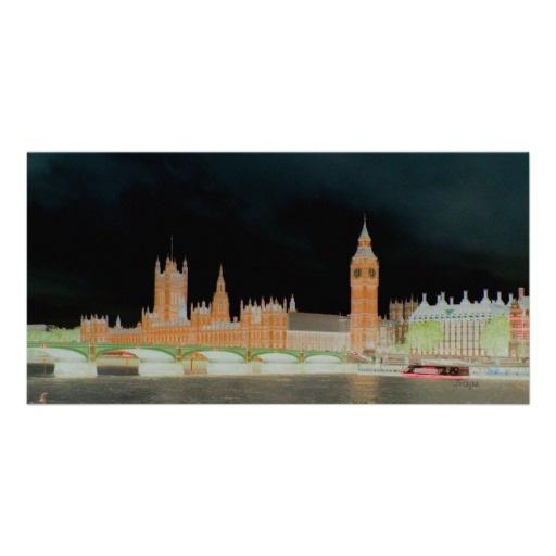 Big Ben/Westminster Abbey London Photo Card