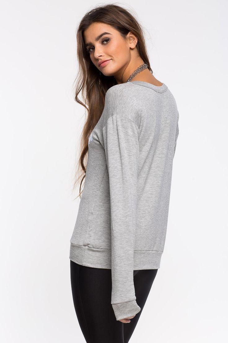 Свитшот Размеры: S, M Цвет: серый Цена: 1353 руб.     #одежда #женщинам #свитшоты #коопт