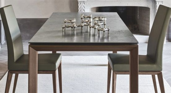 Calligaris Omnia Glass Drop Leaf Dining Table | Ambiente Modern Furniture