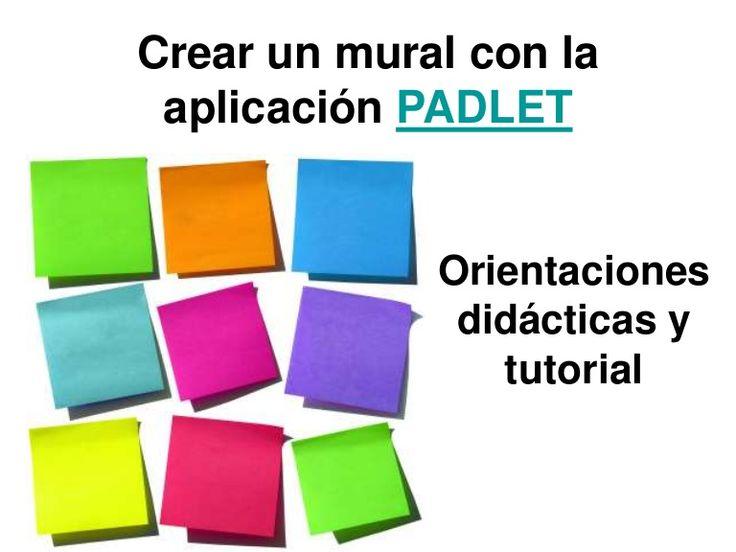 Crear un mural con la aplicación Padlet (Antes Wallwhiser)