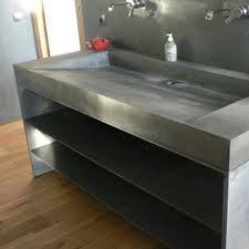 meuble vasque beton cire