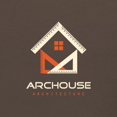 Geometric house architecture   Logo Design Gallery Inspiration   LogoMix                                                                                                                                                                                 More