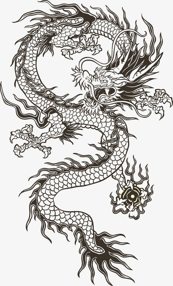 Drachen Tattoo Vorlagen Chinese Dragon Totem, Chinese Clipart, Dragon Clipart
