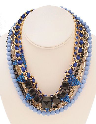 Luxe Cobalt Blue Layered Necklace | @t+j Designs