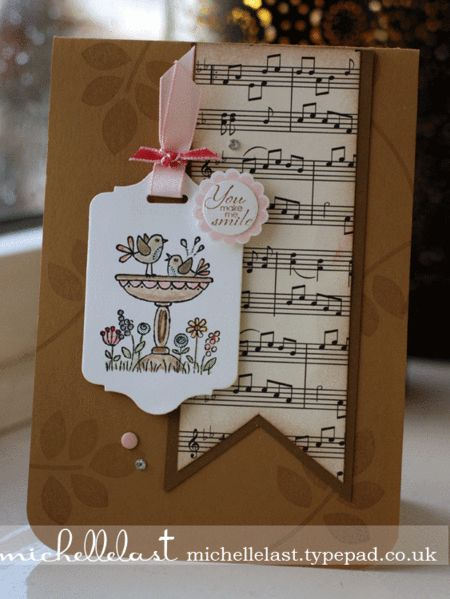 "By Michelle Last, Stampin' Up! ""For The Birds"", ""A Round Array"", and ""Betsy's Blossoms"" ..."