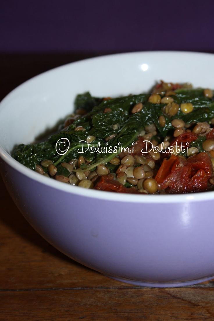 Zuppa di lenticchie e cime di rapa