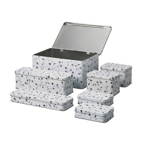 ФЛАТЭН Набор банок,7 штук IKEA Удобно хранить ватные шарики, заколки для волос и т.д.