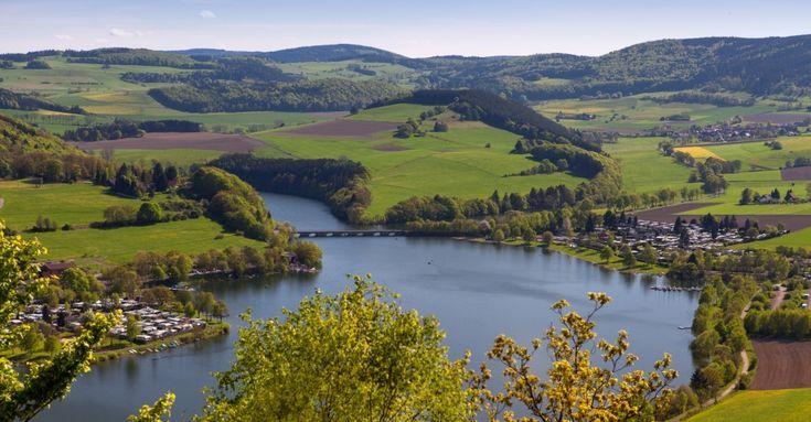 Diemelsee in Nordhessen in Hessen, Deutschland
