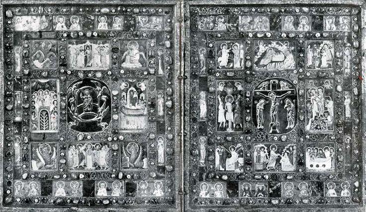 III. Endre diptichonja, a Berni Városi Múzeumban. Fával bélelt ezüstlap, poncolt díszítéssel, hártyára festett és kristállyal borított miniatürökkel, két vésett bizánci kővel. Velencei, vagy velencei hatás alatt készült magyar mű, melyet III. Endre halála után özvegye, Habsburg Ágnes, vitt Svájcba. A jobboldali tábla felső sorában a két középső keretben Szent István, Szent Imre, Szent László és Szent Erzsébet miniatürképe látható.