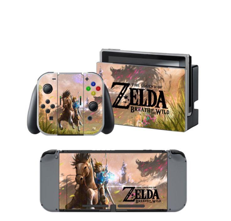 Nintendo switch legend of zelda breath of the wild skin for Housse zelda nintendo switch