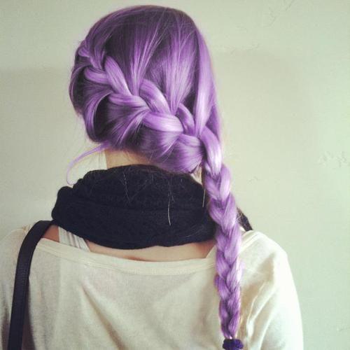 Lovely lilac hair braid