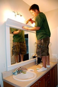 How to Frame a Mirror for a Dramatic Upscale Look - One Project Closer