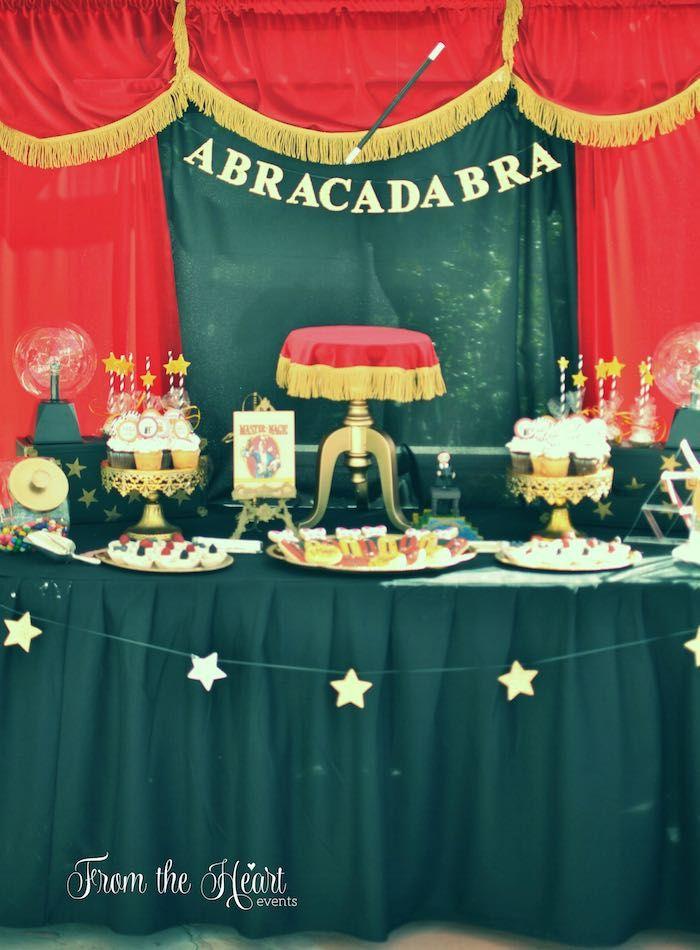 mesa buffet fiesta infantil magia