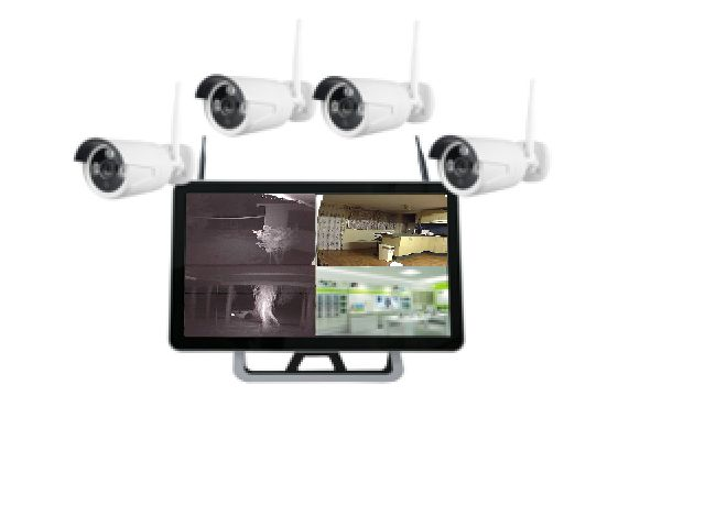 "22"" screen & 4 X 1080P Wi-Fi cameras. perfect for the busy individual or family, to see & know what is happening while busy on other things. Built in hard drive."