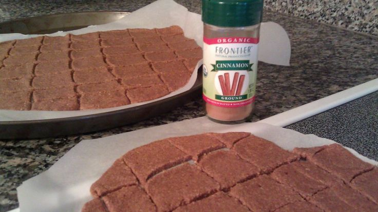 Cinnamon Sugar Sprouted Crackers