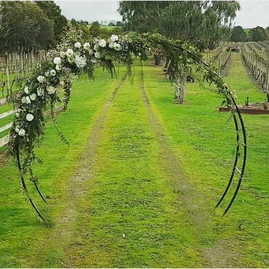 round Wedding arch  Wedding Arbour  Wedding arch flowers