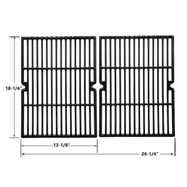 2 PACK CAST IRON REPLACEMENT COOKING GRIDS FOR BBQ GRILLWARE GGP-2501, UNIFLAME GBC750W, THERMOS 461262407 AND MASTER FORGE GGP-2501 GAS GRILL MODELS Fits Compatible BBQ grillware Models : GGP-2501 Read More @http://www.grillpartszone.com/shopexd.asp?id=34016&sid=34196