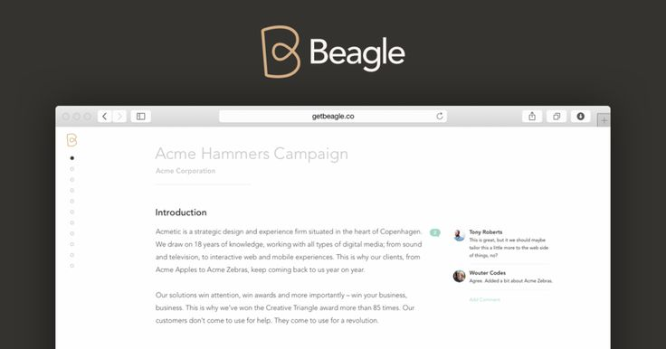 Beagle gives you a smarter way to create compelling proposals, faster.