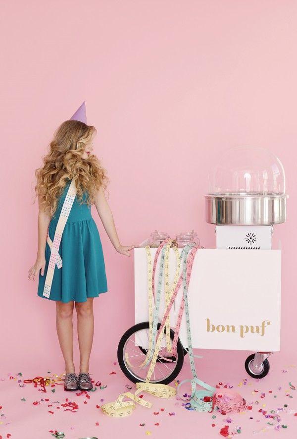 Creative Cotton Candy Cart | Glitter Girl: Cloe Lane Of Bon Pouf/Kimberly Genevieve Photography
