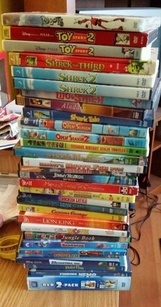 Kids Disney DVDs Toy Story Nemo Monsters Shrek Mickey Peter Pan Aladin Lion King