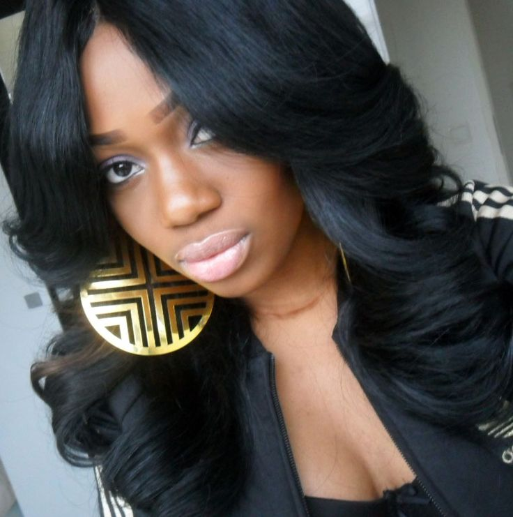 Sew In Hairstyle 74 Best Sew Ins Images On Pinterest  Hair Dos Black Hairstyle