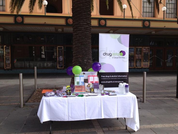 Drug Action Week outdoor display - Newcastle Library