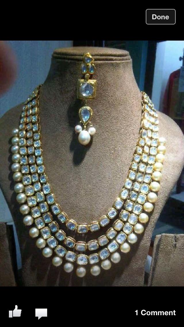 Kundan and pearl