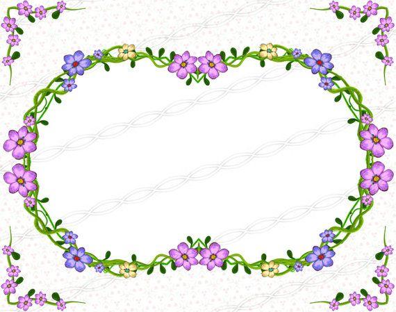 Digital scrapbooking floral frames and borders graphic design digital drawing. https://www.etsy.com/listing/244907171/instant-download-png-frame-clip-art-digi?ref=shop_home_active_13