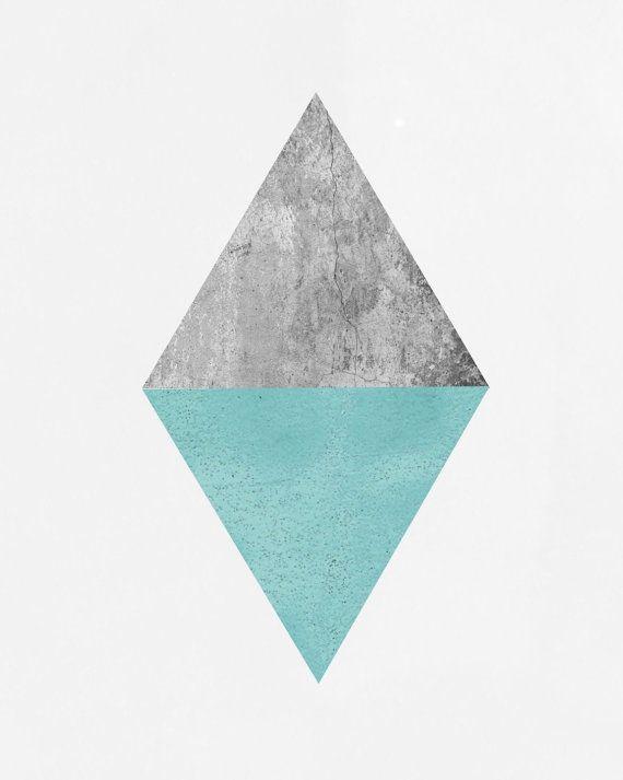 Arte minimalista triángulo de impresión arte por exileprinted