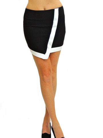 Comeback Asymmetrical Skirt - Black - $44.00 | Daily Chic Bottoms | International Shipping
