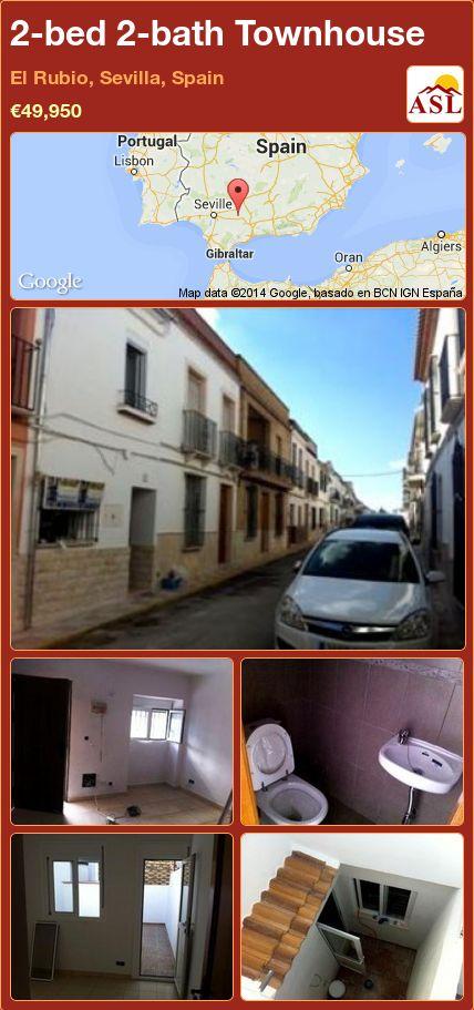 2-bed 2-bath Townhouse in El Rubio, Sevilla, Spain ►€49,950 #PropertyForSaleInSpain