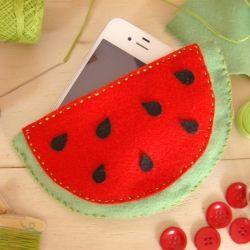 DIY - Watermelon phone case (in Portuguese)