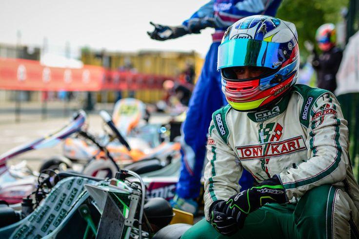 'Ακης Βασιλερης στο 2ο αγώνα του Rotax Max Eurochallenge, Castelletto Italy 2015.