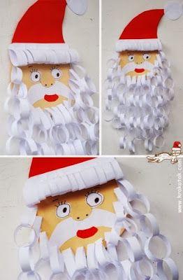 ,bricolage père-noel Kerstman knutselen papier