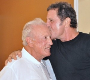 Frank with his dad, Frank Stallone, Sr.,  1919-2011 (RIP, Mr. Stallone, thank you for Frank, thank you for serving our country.)
